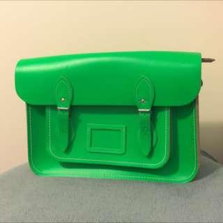 Cambridge Satchel In Neon Green