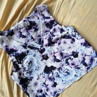 Miss Selfridge Floral crop top [Wardrobe Clearance]