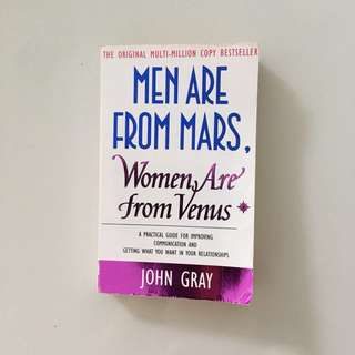 Men are from Mars Women are from Venus by John Gray