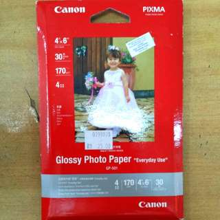 Original Canon 4R Glossy Photo Paper 30 sheets 170g/m