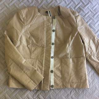 Topshop Pvc Chanel Style Jacket