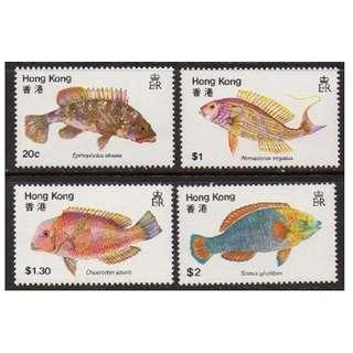 香港 1981年 香港漁類郵票