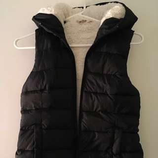 NEW Hollister Hooded Puffer Vest