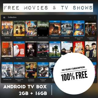 X96 Android TV Box - FREE Movies & TV Shows (No subscription)