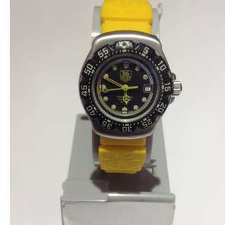 Authentic Tag Heuer F1 Womens Watch With Yellow Strap