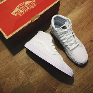 VAJS OLD SKOOL ALL WHITE HIGH CUT
