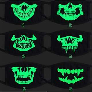 GLOW in the Dark Half-Face Mask