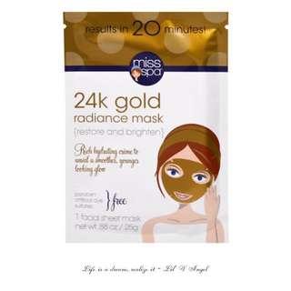 Miss Spa, 24k Gold Radiance Mask, 1 Facial Mask