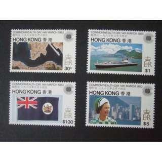 香港 1983年 英聯邦日紀念郵票