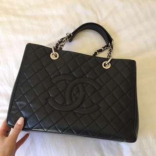 Authentic Chanel GST black caviar bag