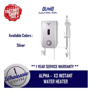 ALPHA X3 INSTANT WATER HEATER