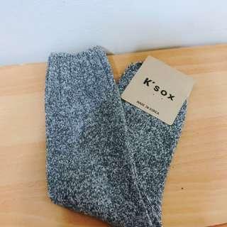 韓國製造 毛襪 中短筒襪