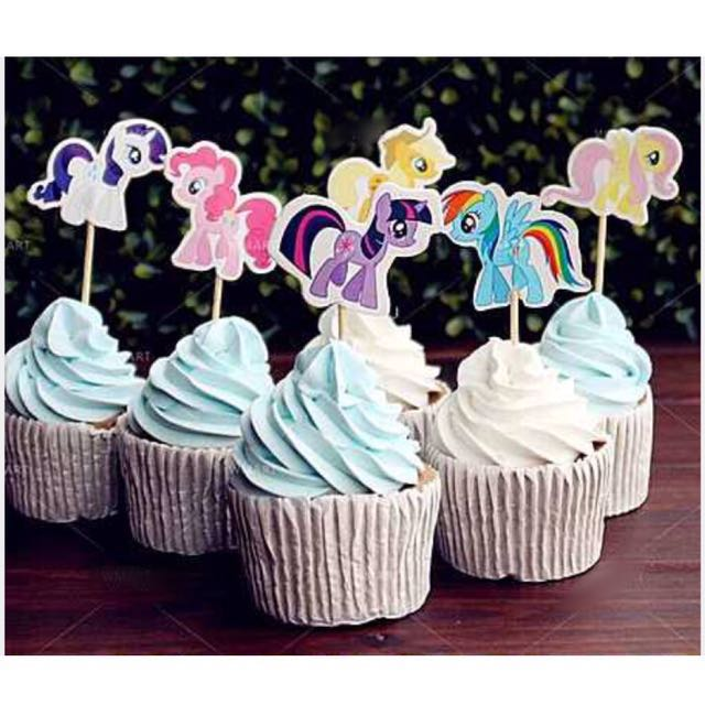Astonishing 12Pcs My Little Pony Cupcake Toppers Muffin Cake Topper Decoration Personalised Birthday Cards Beptaeletsinfo