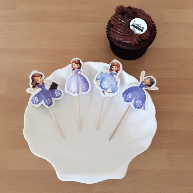 Sensational 12Pcs Sofia The First Princess Disney Cupcake Toppers Muffin Cake Personalised Birthday Cards Cominlily Jamesorg