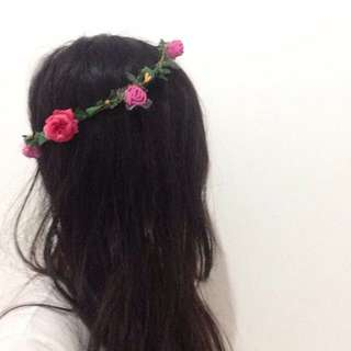 Flower crown - aksesoris kostum