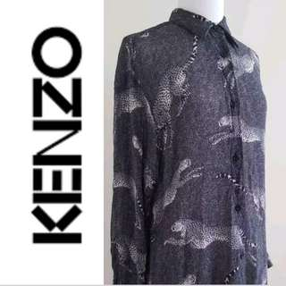 KENZO JUNGLE Vintage Animal Print Blouse/Shirt Dress, EUC, US Medium