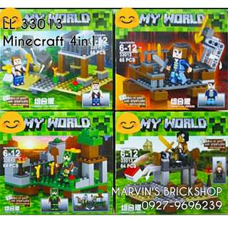 For Sale Minecraft Building Blocks 4in1 set LL 33013