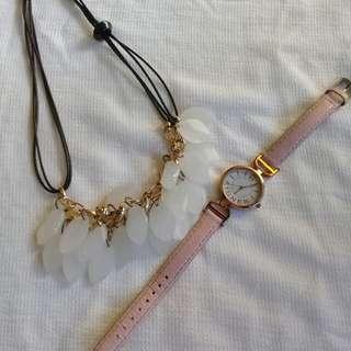 Jam tangan dan kalung kekinian