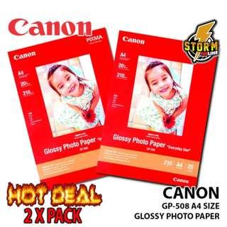 CANON GP-508 A4 (20 PCS) GLOSSY PHOTO PAPER X 2 PACKS