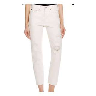 LEVI Wedgie White Denim Size 28