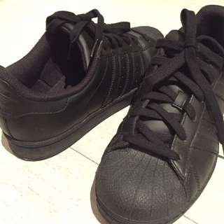 Adidas Originals Superstar shoes in black