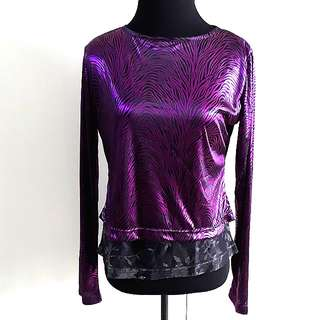 Metallic printed top