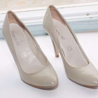 Italian Grey Soft Leather Shoes