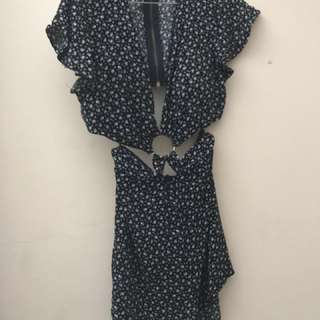 Jumpsuit with cutouts