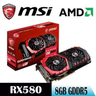 MSI Radeon RX580 GAMING X 8G