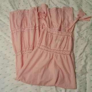 Vintage Pink Maxi Dresss