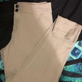 Forever 21 Cream Pants Size M