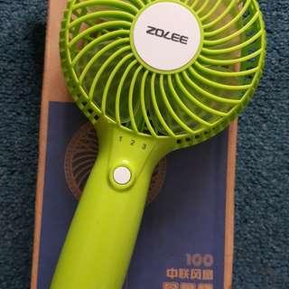 Portable usb rechargeable hand fan