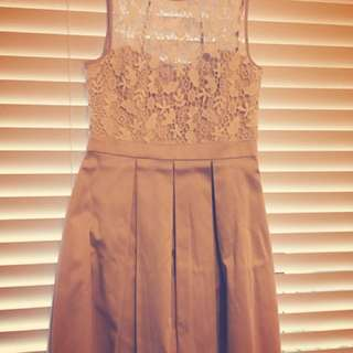 Forever New romantic pink and white lace dress