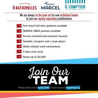 FRENCH Bistro is Hiring !