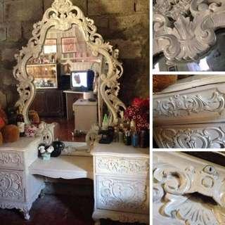 Antique Narra Mirror Dresser (Victorian Design)