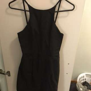 Short Black Dress Princess Polly Size 6