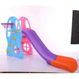 2in1 Slide and Basketball Hoops Playground for Kids