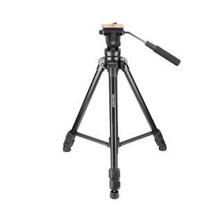 Neewer 65inches/165 centimeters Aluminum Alloy Tripod with 360 Degree Fluid Head, 1/4-inch Quick Release Plate, Bubble Level for DSLR Camera, Video Camcorder, Load Capacity 17.6 pounds/8 kilograms -- 244