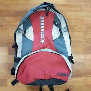 Use Converse school bag backpack for boys and girls (unisex) with red and  grey a1aebbf8f4e9b