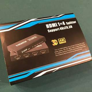 HDMI 1x4 Splitter (Support 3D & 4K)