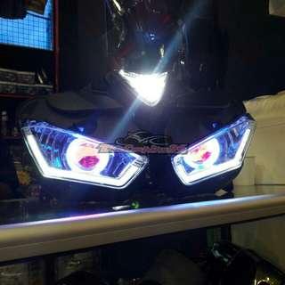 R25 devil eye headlights