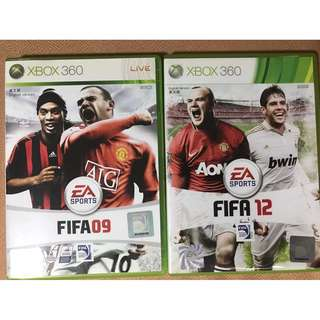 Xbox 360 Fifa 09 & 12