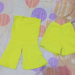 One set lemon yellow