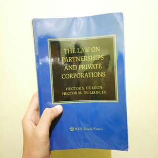 The Law on Partnership and Corporation