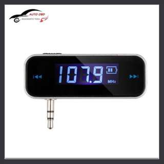 (available) Mini Wireless Transmitter 3.5mm Music Audio FM Transmitter For iPod Mobile for iPhone Electronic Car MP3 Player
