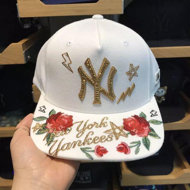 周子瑜代言2017MLB洋基隊棒球帽twice鴨舌帽