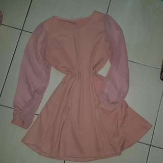 Skater Dress Dusty Pink #