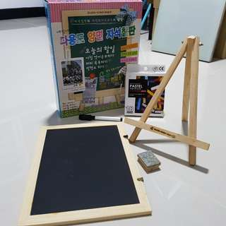 Chalkboard - double side board with stand