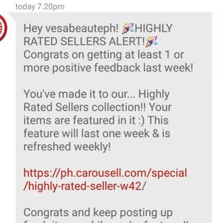 Highly rated seller Allert!