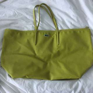 Lacoste weekend bag - lime green
